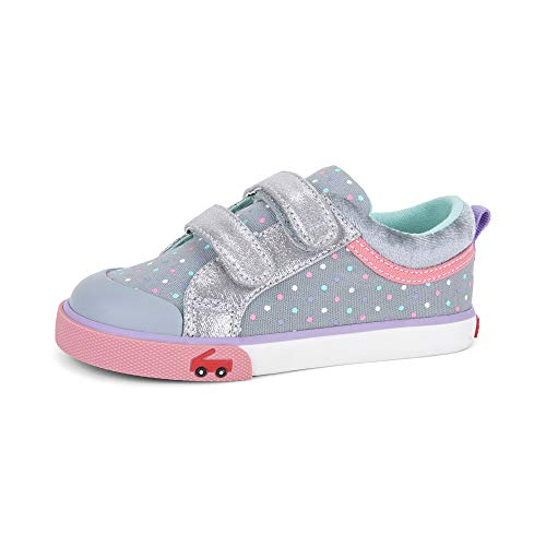 See Kai Run Girls' Robyne Sneaker, Silver Leather, 7 M US...