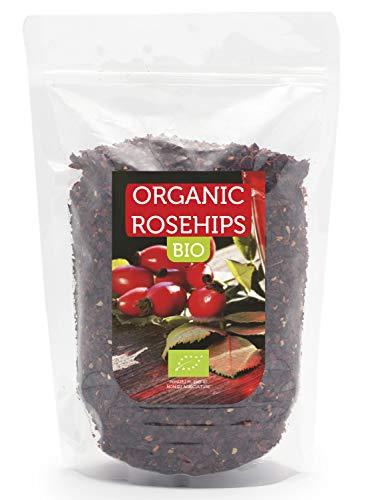 HerbaNordPol Bio Hagebuttenschalen 1kg, Ideal für Tee, ohne Samen, eine natürliche Quelle für Vitamin C