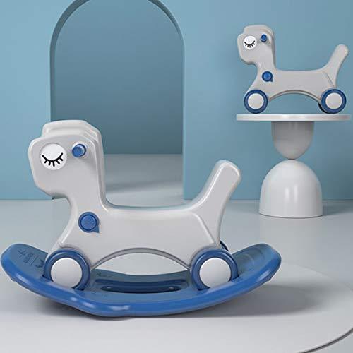 ZHKXBG Baby Schaukelpferd, Kinder Schaukelspielzeug, Kind Schaukel Tier, Indoor Outdoor Baby Schaukelstuhl, Geschenk für 1-3Y,Blau