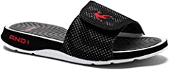 And1 Men's Enigma 2.0 Slide Sandal with Synthetic upper Slip-on design with adjustable hook and loop closure Breathable mesh lining EVA foot bed for extra comfort Phylon midsole for lightweight, comfortable wear