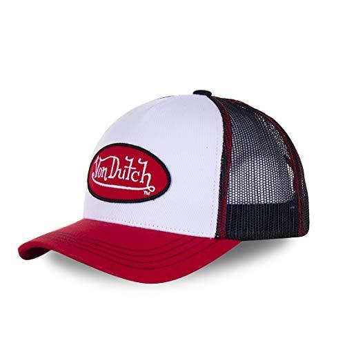 Von Dutch Gorra de béisbol Trucker Classico para Hombre (Blanco Rojo)