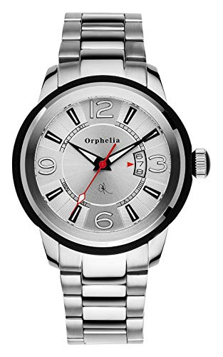 Orphelia Herren-Armbanduhr Black Touch Analog Quarz Edelstahl