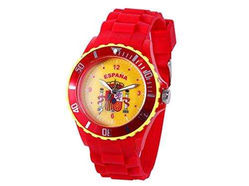 Alsino Armbanduhr WM EM Länder Silikon Uhren für Damen und Herren Silikonuhr, UR-ESP Spanien
