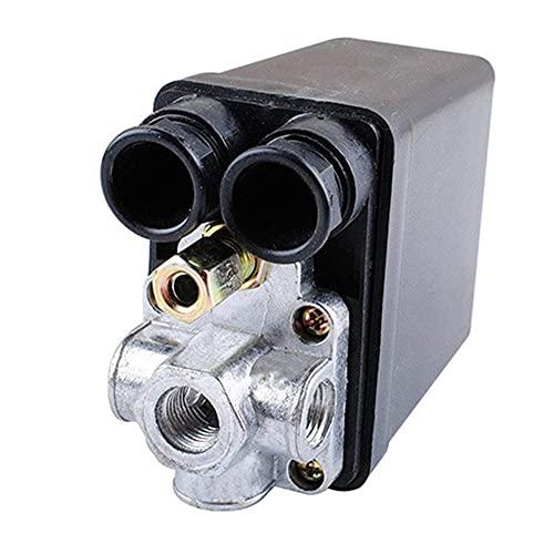 Ashley GAO Válvula de control del interruptor de presión del compresor de aire de servicio pesado 90 PSI -120 PSI Control del interruptor de presión del compresor de aire negro