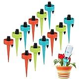 DZQ RSDF Juego de riego automático, Sistema de riego para macetas, el Sistema de riego automático es Adecuado para regar Varias Plantas y Flores en Interiores y Exteriores (12 Piezas 3 Colores)