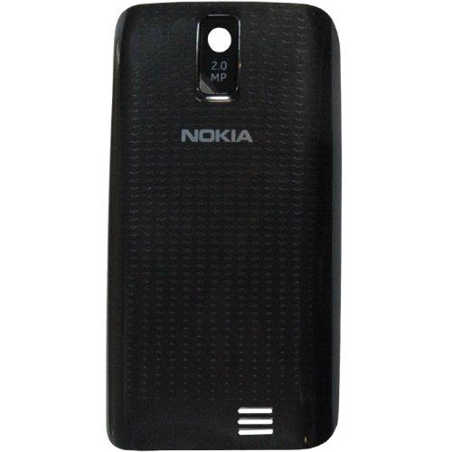 Original Nokia Akkudeckel für Nokia Asha 308, 309 - black / schwarz (Akkufachdeckel, Batterieabdeckung, Rückseite, Back-Cover) - 0259855