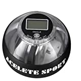 ACELETE Auto-Start 2.0 Power Ball with Digital LCD Counter Wrist Trainer Ball Forearm Exerciser Wrist Strengthener Workout Toy Spinner Gyro Ball with LED Lights