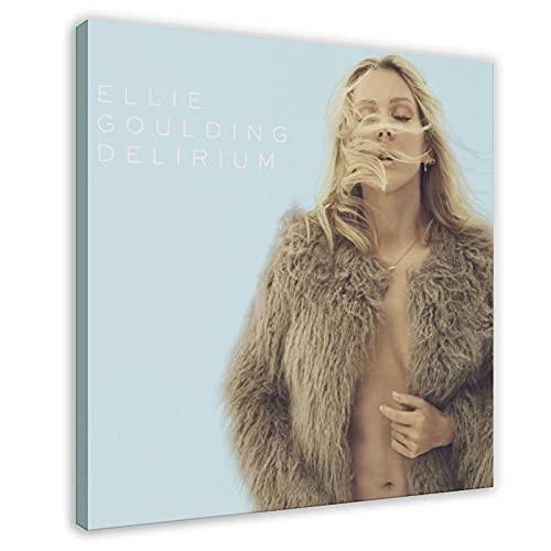 Poster su tela, motivo: cantante pop britannica, Ellie Goulding Delirium, decorazione da parete per soggiorno, camera da letto, 70 x 70 cm, stile cornice1