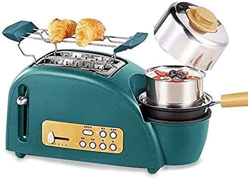 3 in 1 mini macchine per il pane, macchina multifunzione per il pane per la colazione, macchina per il pane antiaderente in ceramica per pizza e caffè sandwich che fa macchina cucina