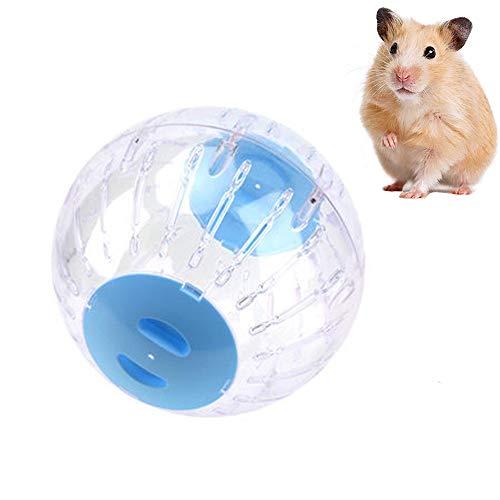 Amasawa Hamsterball Spielzeug,Hamsterball Übungsball Sportball,Rolle Kugel Laufkugel Joggingball Kleintiere Kunststoff Spielzeug,für Sport/Fitness/Laufen (Blau)