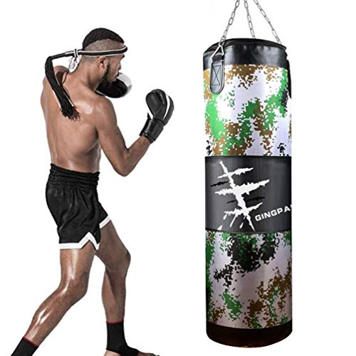GYPPG Box-Training Boxsack, Camouflage Canvas Hollow Sand Bag, Fitness-Training Sand Bag, MMA-100 cm Martial Arts Taekwondo Sand Bag