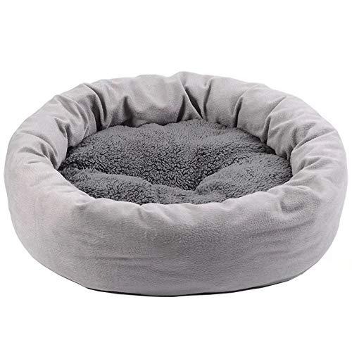 ASR PP Cotton Pet Bed, Pet Bed for Cat, Dog, Rabbit, Hamster, Indoor Outdoor Pet Bed Doughnut with Cushion, Grey (36 x 25 x 10 cm)