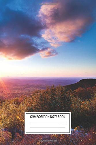 Composition Notebook: Landscapes Taken Right Before Sundown The Fall Colors Were Quite Landscapes Wide Ruled Note Book, Diary, Planner, Journal for Writing