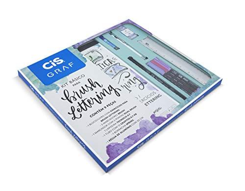 Kit Básico para Lettering com 9 peças CIS, 70.0013, Multicor