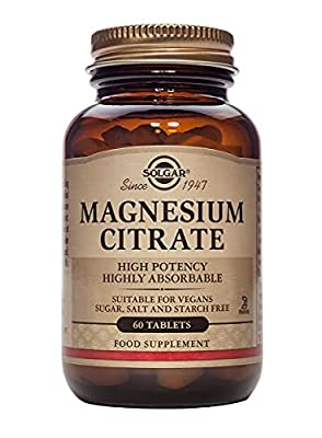 Solgar Magnesium Citrate Tablets, Pack of 60