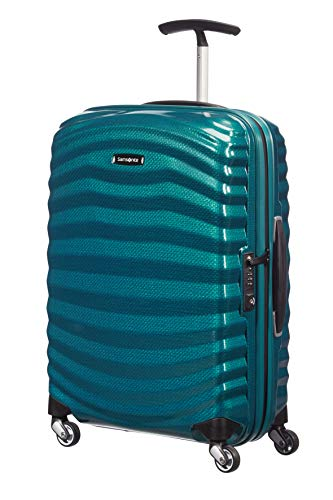 Samsonite Lite-Shock - Spinner S Hand Luggage, 55 cm, 36 Litre, Blue (Petrol Blue)