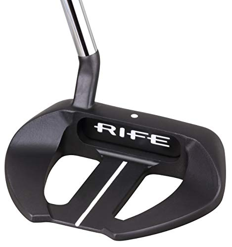 """Rife Golf Roll Groove Technology Series Right Handed RG5 Full Mallet Dual Winged Putter Precision Milled Face Edge and Cavity Ensures an Ideal Weight Balance Perfect for Lining Up Your Putts 35"""""""