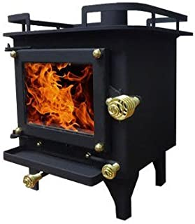 Cubic Cub Mini Wood Stove - CB-1008 (Black/Black)