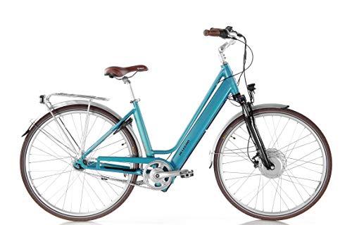 Allegro Invisible City Plus E-Bike Damen 46cm 28 Zoll, City Elektrofahrrad, Pedelec E-Fahrrad, Hellblau