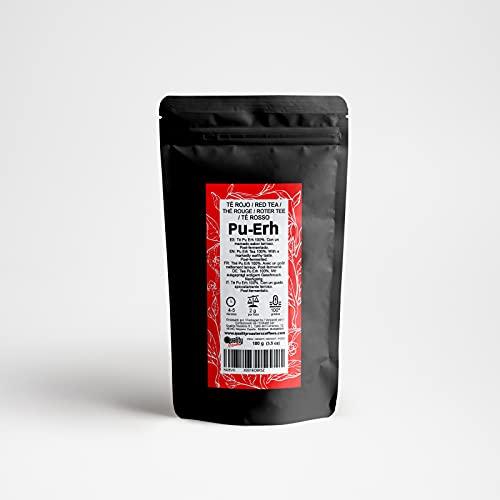 Tè rosso. Tè Pu Erh. Con un gusto terroso molto marcato. Post-fermentato. Antiossidante. Diuretico. (100 Gr)