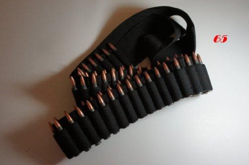 65 Shell Bandolier Ammo Belt Sling Black by WM