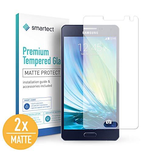 smartect Mat Beschermglas compatibel met Samsung Galaxy A5 2015 [2x Matte] - screen protector met 9H hardheid - bubbelvrije beschermlaag - antivingerafdruk kogelvrije glasfolie