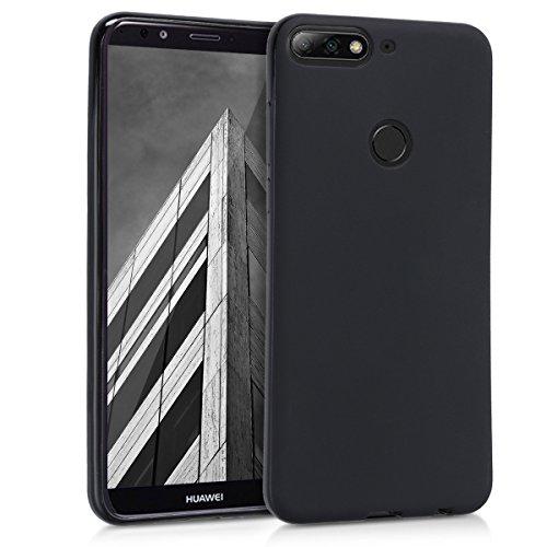 Huawei Y7 (2018)/Y7 Prime (2018) Hülle - Handyhülle für Huawei Y7 (2018)/Y7 Prime (2018) - Handy Case in Schwarz matt
