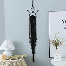 Tkana makrama, ozdoba na ścianę, łapacz snów, czeskie wzornictwo, dekoracja ścienna, mieszkanie