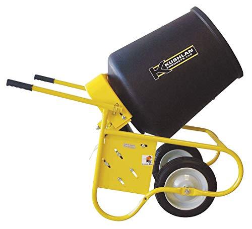 Kushlan Products Wheelbarrow Mixer, 3.5 cu ft, 115V, 1/2HP -...