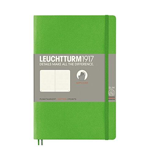 LEUCHTTURM1917 358306 Notizbuch Paperback (B6+), Softcover, 123 nummerierte Seiten, dotted, Fresh Green