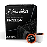 Brooklyn Beans Express-O Gourmet Coffee Pods, Compatible with 2.0 Keurig K Cup Brewers, 40 Count