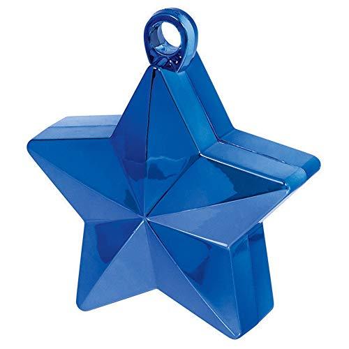DecoParty-fr Peso Estrella Azul para Globos - Unidad