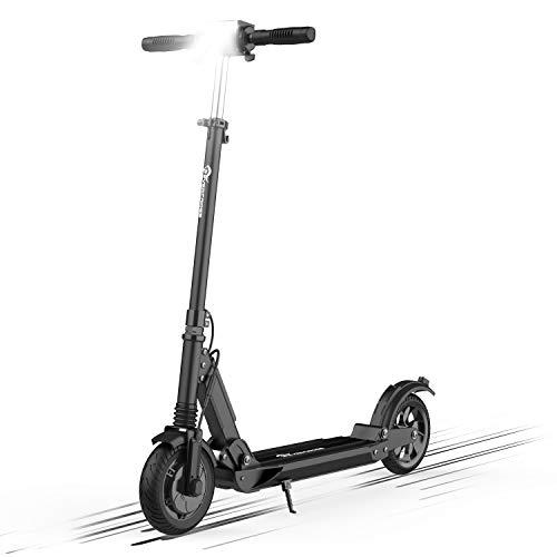 Patiente eléctrico HITWAY Scooter eléctrico para Adultos, Motor eléctrico Plegable de 350 W, batería de 7,5 Ah y neumático Trasero sólido de 8 Pulgadas, 3 Modos de Velocidad, Altura Ajustable, Ultraligero (Negro)