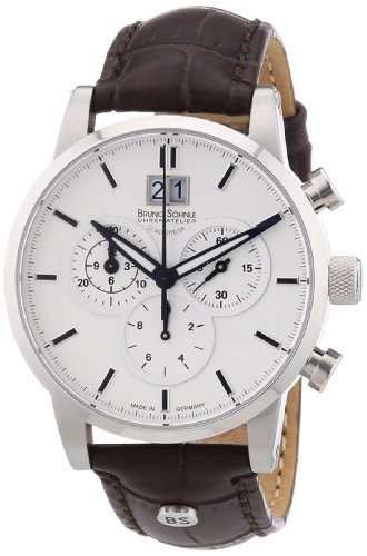 Bruno Söhnle Herren-Armbanduhr XL Idas Chronograph Quarz Leder 17-13084-241