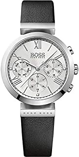 Hugo Boss Women's Silver Dial Leather Band Watch - 1502395