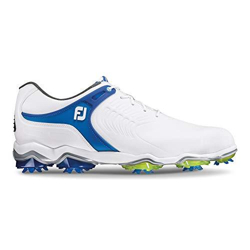 Footjoy Herren Tour S Golfschuhe, Weiß (Blanco/Azul 55301), 46 EU