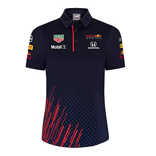 Red Bull Racing F1 - Polo para mujer, Azul / Patchwork, XL