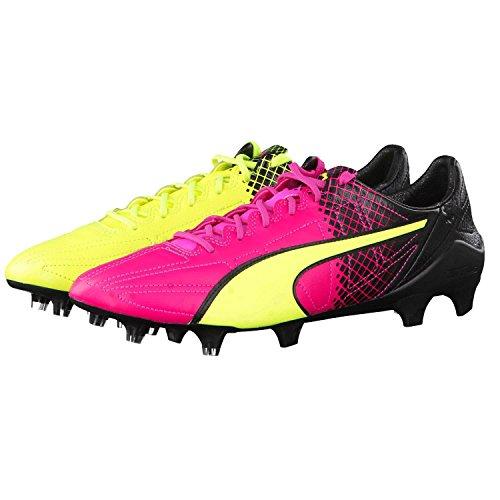 Puma Herren Fussballschuhe evoSPEED SL II Lth Tricks FG 103646 pink glo-safety yellow-black 46.5