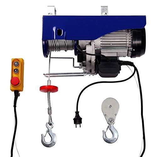 Elektrische Seilwinde Seilzug Seilhebezug 500 kg / 1000 kg 12 m/6 m mit Kabelfernbedienung Motorwinde   5m Kabellänge   1600 W