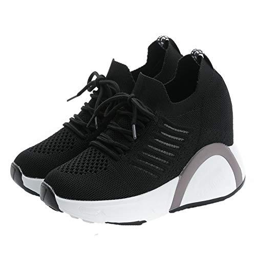 Zapatillas de Deporte para Mujer, Antideslizantes, talón Oculto, Malla, Zapatillas Transpirables, Zapatos Gruesos, Comodidad, Estilo Simple, Zapatos Casuales de Moda