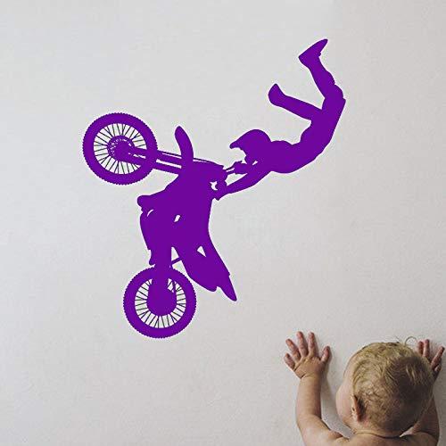 guijiumai Vinyl Kunst Sport Wandaufkleber Tribal Bike Motorrad Raumdekoration Design Poster Wandtattoos Dekor Ornament L 4 85X97 cm