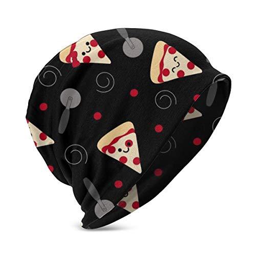 UKFaaa - Affettatrice per Pizza, per Bambini, a Maglia Carina con Polsino Largo, Cotone, Nero, Taglia Unica