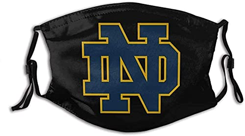 Notre Dame Face Mask with Filter Womens Mens Cloth Face Masks Adults Washable Fashion Designer