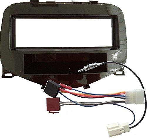 Radioblende 1-DIN, Antennenadapter und Radioadapter für Toyota Aygo, Citroen C1, Peugeot ab 2014