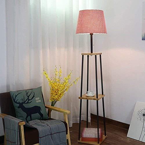 N/Z Home Equipment Floor Lamp Pot Rack Shelf Bedroom Living Room Simple Modern Creative Bedside Standing Lamp Table Lamp Easy To Clean Decoration Light (Color : Red)
