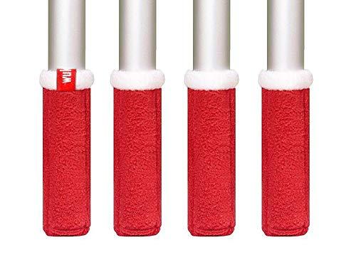 Weihnachtswukies Stuhlsocken (Rot mit Weiß, Standard, Umfang 10 – ca. 12 cm)