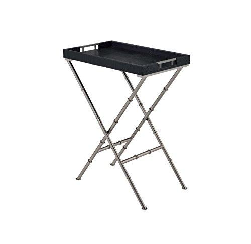 ComfortScape Rectangular Serving Tray Table, Black Croc