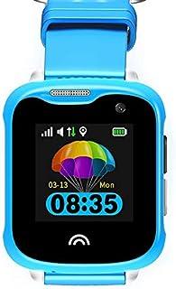 YONIS Orologio GPS per Bambini Smartwatch LBS WiFi Schermo 1.33 sorveglianza Vocale Blu