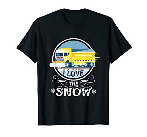 I Love The Snow Truck Schneepflug Fahrer Winter T-Shirt