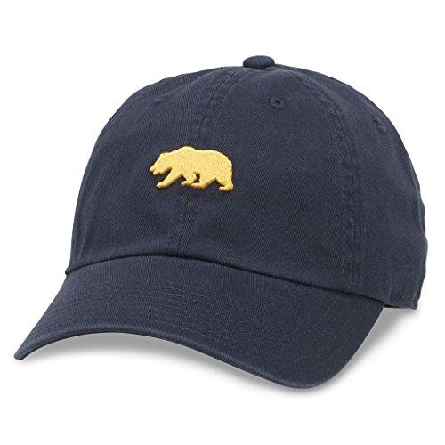 AMERICAN NEEDLE Ballpark Casual Baseball Dad Hat California Bear, Navy (44480B-CALI)